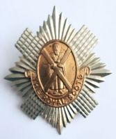 Scottish. 1st Foot or the Royal Scots Regiment of Foot Victorian OR's glengarry badge