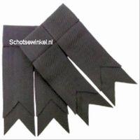 Stealth Grey Plain Coloured Garter, Flashes