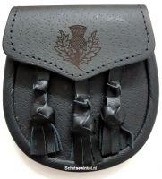 Kinder Sporran, Thistle, 3 Tassels, 14 cm